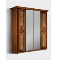 Шкаф 4-х дв.для платья и белья ( 2 зеркала)